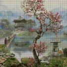Chinese landscape DMC cross stitch pattern in pdf DMC