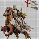 Crusader knight horseback DMC cross stitch pattern in pdf DMC