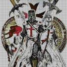 Crusaders DMC cross stitch pattern in pdf DMC