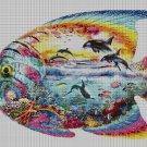 Fish sea DMC cross stitch pattern in pdf DMC