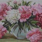 Flowers DMC cross stitch pattern in pdf DMC