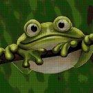 Frog DMC cross stitch pattern in pdf DMC