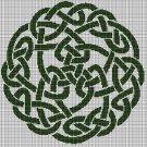 Celtic Knot silhouette cross stitch pattern in pdf