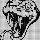 Cobra head silhouette cross stitch pattern in pdf