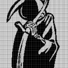 Death silhouette cross stitch pattern in pdf
