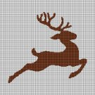Deer silhouette cross stitch pattern in pdf