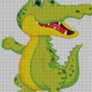 Crocodile DMC cross stitch pattern in pdf DMC