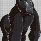 Gorilla DMC cross stitch pattern in pdf DMC
