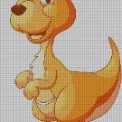 Kangaroo DMC cross stitch pattern in pdf DMC