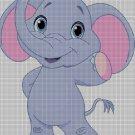 Little elephant DMC cross stitch pattern in pdf DMC