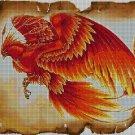 Phoenix bird DMC cross stitch pattern in pdf DMC