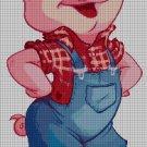 Piggy DMC cross stitch pattern in pdf DMC