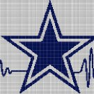Cowboys Heartbeat silhouette cross stitch pattern in pdf