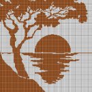 Landscape silhouette cross stitch pattern in pdf