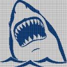 Shark silhouette cross stitch pattern in pdf