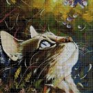 Cat head DMC cross stitch pattern in pdf DMC