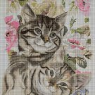 Cats DMC cross stitch pattern in pdf DMC