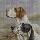 English setter and pointer DMC cross stitch pattern in pdf DMC