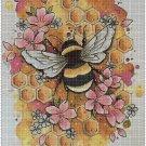 Honey bee DMC cross stitch pattern in pdf DMC