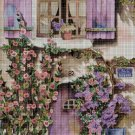 House with flowers DMC cross stitch pattern in pdf DMC