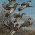 Mallards DMC cross stitch pattern in pdf DMC