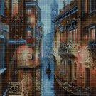 Venice at night DMC cross stitch pattern in pdf DMC