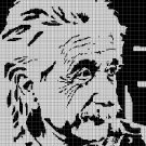 Einstein 2 silhouette cross stitch pattern in pdf
