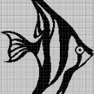 Fish silhouette cross stitch pattern in pdf