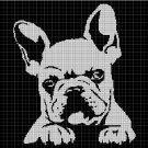 French bulldog silhouette cross stitch pattern in pdf