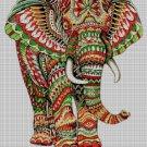 Elephant DMC cross stitch pattern in pdf DMC