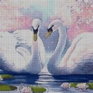 Swans DMC cross stitch pattern in pdf DMC