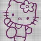 Hello Kitty silhouette cross stitch pattern in pdf