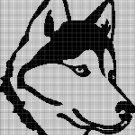 Husky Head silhouette cross stitch pattern in pdf