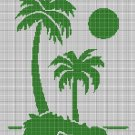 Island silhouette cross stitch pattern in pdf