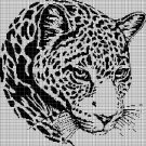 Jaguar silhouette cross stitch pattern in pdf