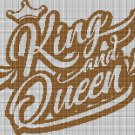 King and Queen silhouette cross stitch pattern in pdf