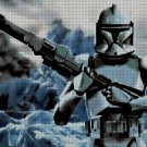 Clone Trooper 2 DMC cross stitch pattern in pdf DMC