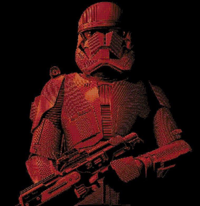 Sith assault trooper DMC cross stitch pattern in pdf DMC