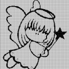 Little Angel silhouette cross stitch pattern in pdf