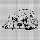 Little dog silhouette cross stitch pattern in pdf