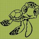Little turtle silhouette cross stitch pattern in pdf