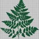 Leaves silhouette cross stitch pattern in pdf
