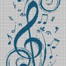 Music silhouette cross stitch pattern in pdf