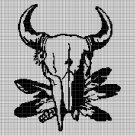 Native American symbol silhouette cross stitch pattern in pdf