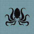 Octopus silhouette cross stitch pattern in pdf