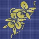 Orchids silhouette cross stitch pattern in pdf