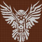 Owl silhouette cross stitch pattern in pdf