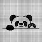 Panda silhouette cross stitch pattern in pdf