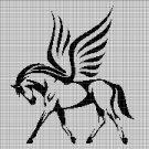 Pegazus silhouette cross stitch pattern in pdf