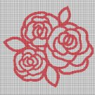 Roses silhouette cross stitch pattern in pdf